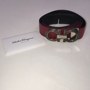 Salvatore Ferragamo leather Gancini buckle belt